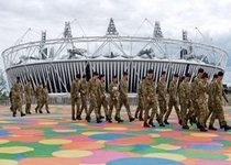 The military have been drafted in to help police the Olympic Games (Picture:BBC)
